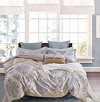 Комплект постельного белья Bella Villa сатин семейный бежевый с орнаментом