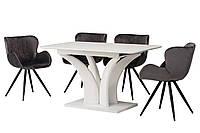 Раздвижной стол ТМL-515 матовый белый Vetro Mebel 140/180