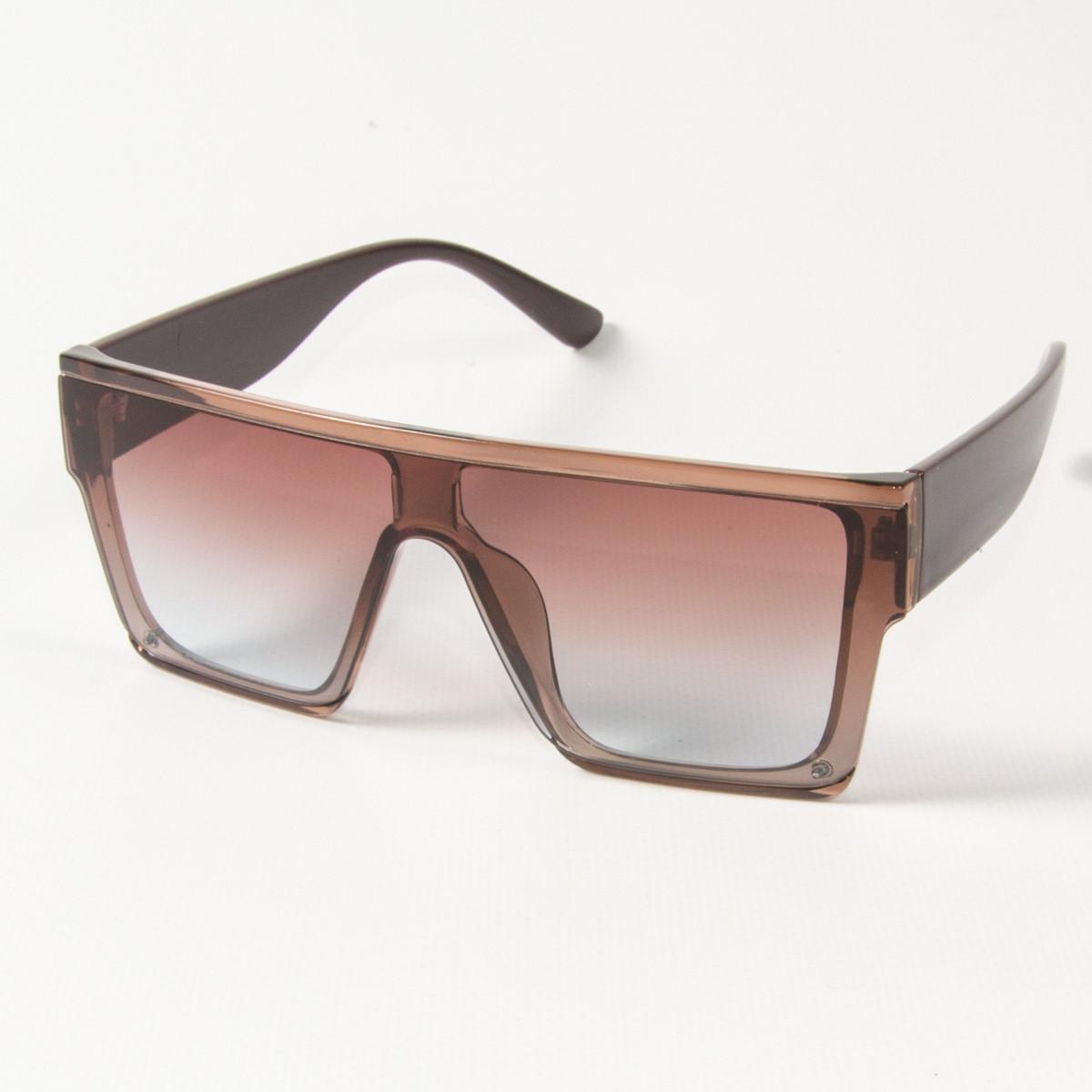 Оптом солнцезащитные очки маски (арт. 338818/3) бежевые