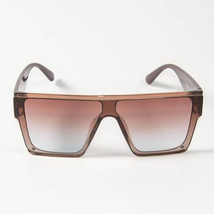 Оптом солнцезащитные очки маски (арт. 338818/3) бежевые, фото 2