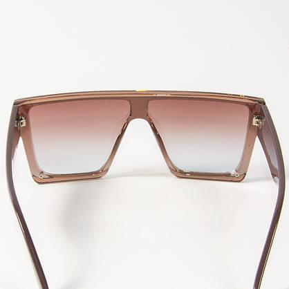 Оптом солнцезащитные очки маски (арт. 338818/3) бежевые, фото 3