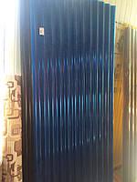 Шифер пластиковый листовой Синий 0,87м*2,0м (1,74м2/лист), фото 1