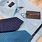 Рубашка мужская бирюзовый жаккард  ТМ INGVAR, фото 4