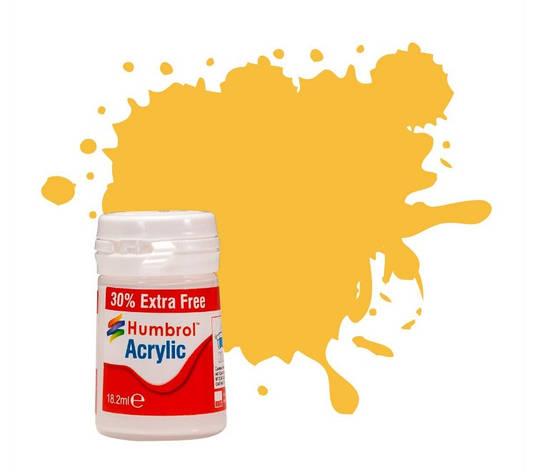 Краска для сборных моделей. Желтый матовый Акрил. HUMBROL 024, фото 2