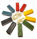 """Набір """"Кольоровий віск для виготовлення свічок"""" 5 кольорів. Натуральний бджолиний віск., фото 2"""