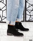 Демисезонные ботинки женские с вырезом черные, фото 2