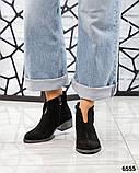 Демисезонные ботинки женские с вырезом черные, фото 4