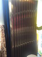 Шифер пластиковый листовой Бронза 0,87м*2,0м (1,74м2/лист)