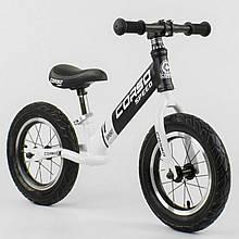 Беговел (велобіг від) з гумовими колесами Corso 10234, сталева рама, колесо 12 дюймів, білий