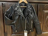 Детская косуха, кожаная куртка для девочки, мальчика. Размеры 116-134.