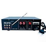 Усилитель звука  70Вт к неактивным колонкам с пультом Bluetooth USB SD AUX Karaoke UKC AV339  12-220 V, фото 3
