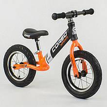 """Велобіг від з надувними колесами Corso 24846 зі сталевою рамою, колеса 12"""", помаранчевий"""