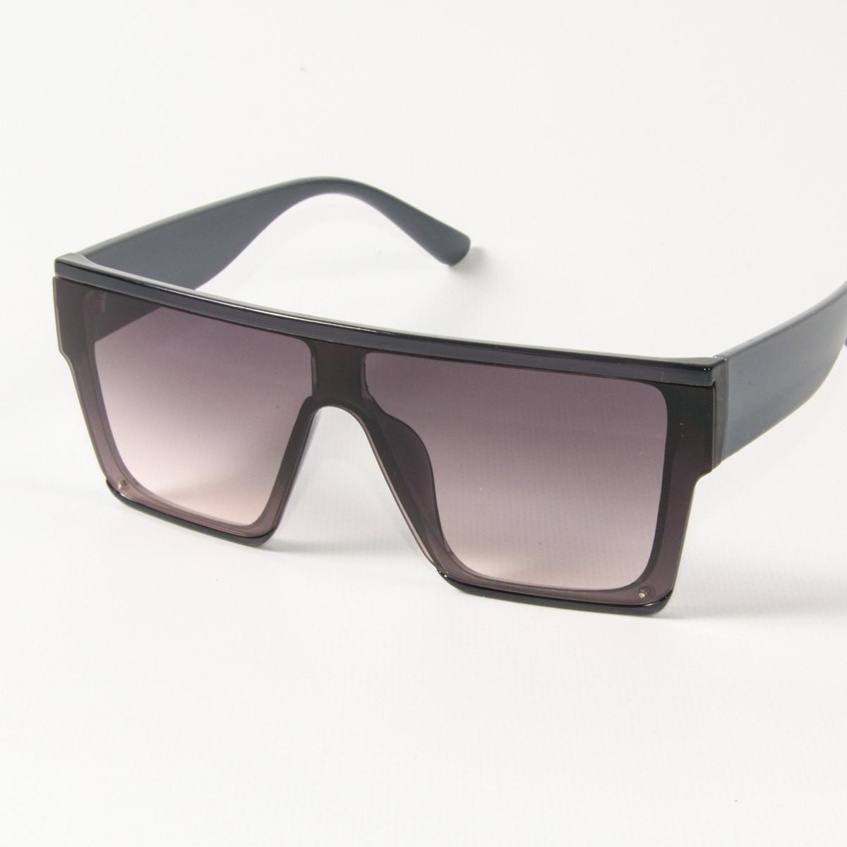 Оптом солнцезащитные очки маски (арт. 338818/6) светло-коричневые