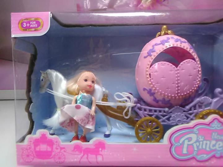 Набор лошадь с каретой и маленькой куклой с аксессуарами