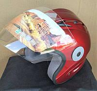 Мотошлем FXW HF-210 красный