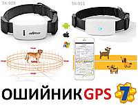 Ошейник с Маячком Чипом Трекером GPS Tracker для Животных Собак Кошек