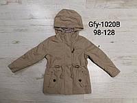 Ветровка для девочек оптом, Glo-story, 98-128 см,  № GFY-1020B