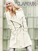 Пальто белое женское молодежное, разм 42,44,46, 2 цвета