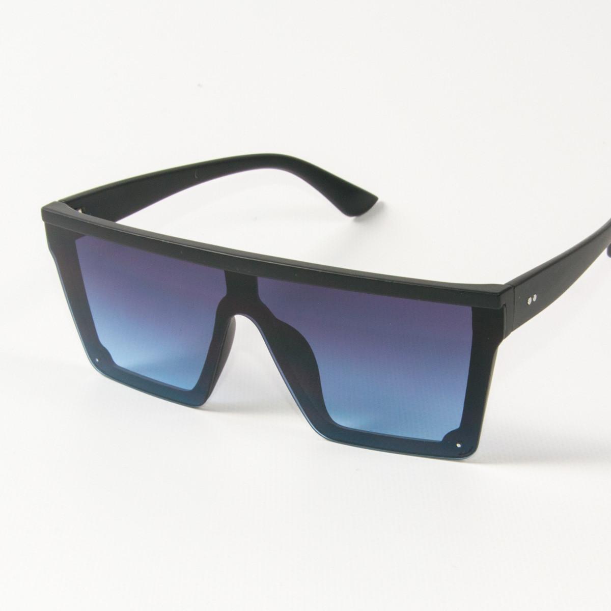 Оптом солнцезащитные очки маски (арт. 335121/2) синие