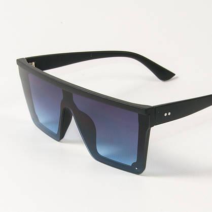 Оптом солнцезащитные очки маски (арт. 335121/2) синие, фото 3