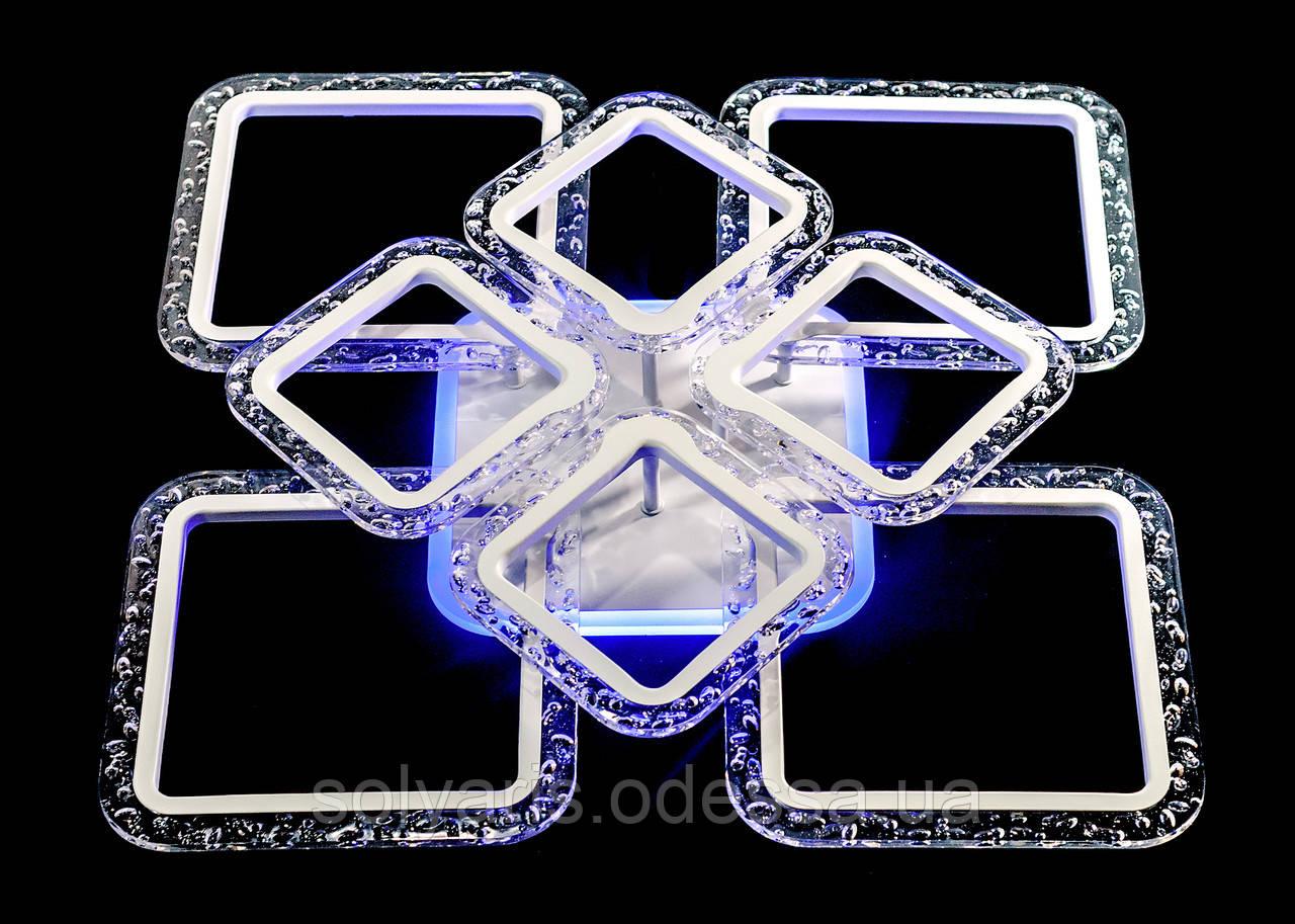 Люстра светодиодная MX222519-4+4A WH белая
