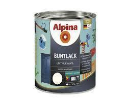 Эмаль алкидная Alpina Buntlack универсальная полуматовая (тёмно-коричневый RAL 8011) 2,5 л