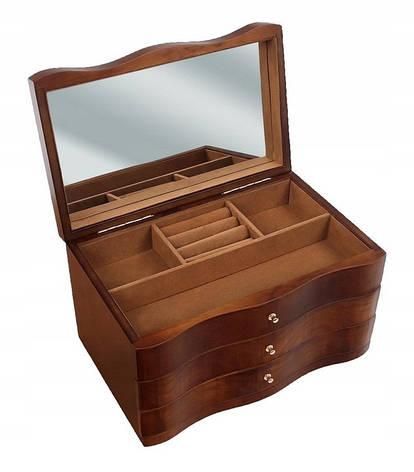 Деревянная шкатулка-органайзер Wooden Collection для украшений, 831154, фото 2