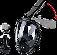 Маска для снорклинга Free Breath 2 поколения со складной трубкой, Маски, очки и наборы для плавания, Маски, окуляри та набори для плавання