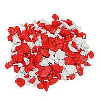 Декоративный щебень ZRостай 20 кг Микс белый-красный (DKMWHTRED20)