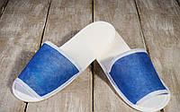 Одноразовые флизелиновые тапочки Luxyart для отелей 100 шт Синий ZF-0321, КОД: 1210530