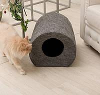 Домик для животных Digitalwool бочка с подушкой Серый DW-92-04, КОД: 1103740