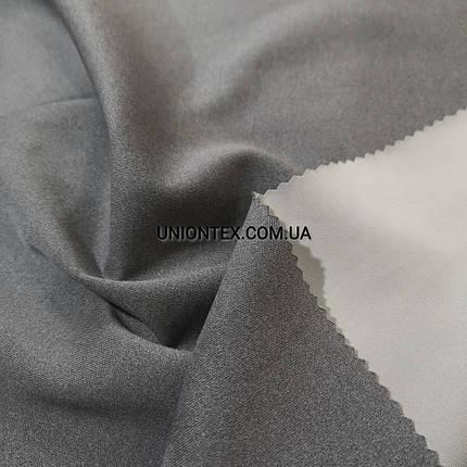 Трикотаж дайвинг плотный светло-серый меланж, фото 2