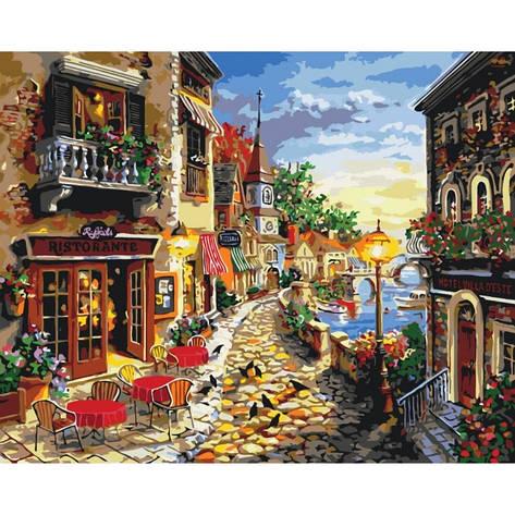 Картины по номерам - Уютная улочка 40х50см. КНО2132 Идейка, фото 2