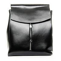 Сумка-рюкзак женская  натуральная кожа черного цвета, женские сумки разные цвета