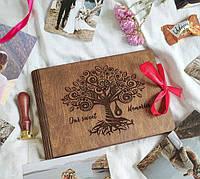 Фотоальбом з дерева, подарунок на 8 березня