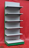 Пристенные (односторонние) стеллажи «Модерн» 230х95 см., серые, на 6 полок, Б/у, фото 1