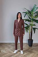 Брючный костюм коричневого цвета Udler, фото 1