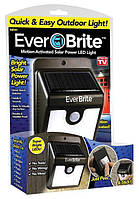Светильник Ever Brite с датчиком движения на солнечной панели, солнечные светильники, светильники на солнечных