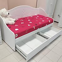 Детская подростковая кровать Свити с ящиками