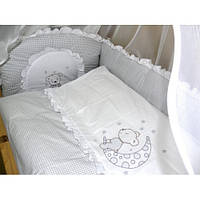 """Детское постельное в кроватку из 3-ед-""""Мишка вышивка"""""""