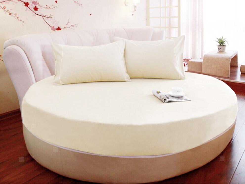 Круглая кровать. Простынь Модель 2 Шампань