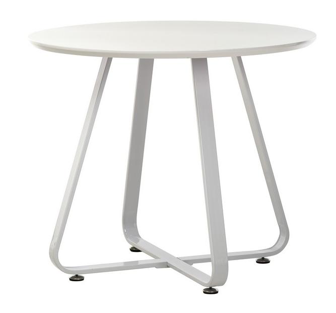 Стол круглый МДФ T-308 d 90 см белый TM Vetro Mebel