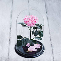 Стабилизированная роза в колбе Lerosh - Lux 33 см,  Розовый - ORIGINAL LEROSH, фото 1