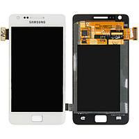 Дисплейный модуль (дисплей + сенсор) для Samsung Galaxy S2 i9100, белый, оригинал