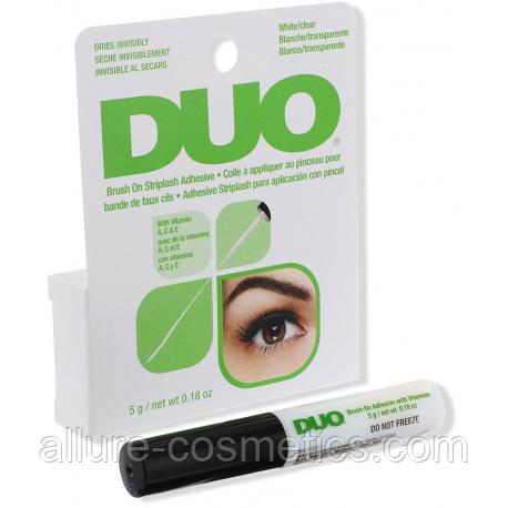 Клей для ленточных ресниц с кисточкой прозрачный DUO Eyelash Adhesive