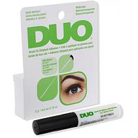 Клей для стрічкових вій з пензликом прозорий DUO Eyelash Adhesive