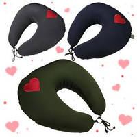 Подарок мужчине, мужу, девушке, жене. Подушка для путешествий EKKOSEAT под шею. Нежность.