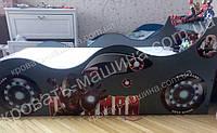 Кровать машина Железный человек графит