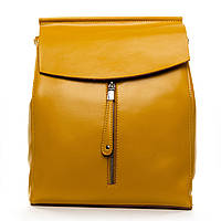 Сумка-рюкзак женская  натуральная кожа желтого цвета, женские сумки разные цвета