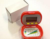Мини шагомер с крышкой ( часы,секундомер, калории, расстояние ), фото 1